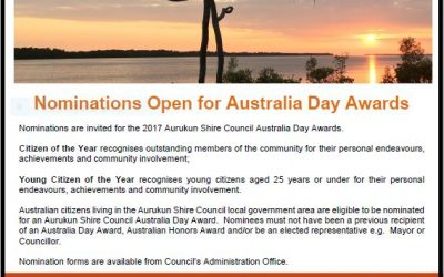 Who are Aurukun's Citizens of the Year?