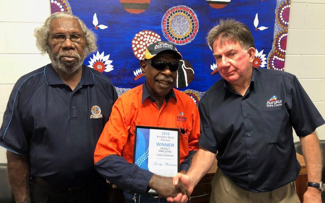 Aurukun Shire Council employees given Deadly Awards
