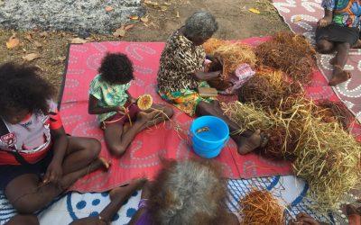 Elders walk on Wik Country with Aurukun youth