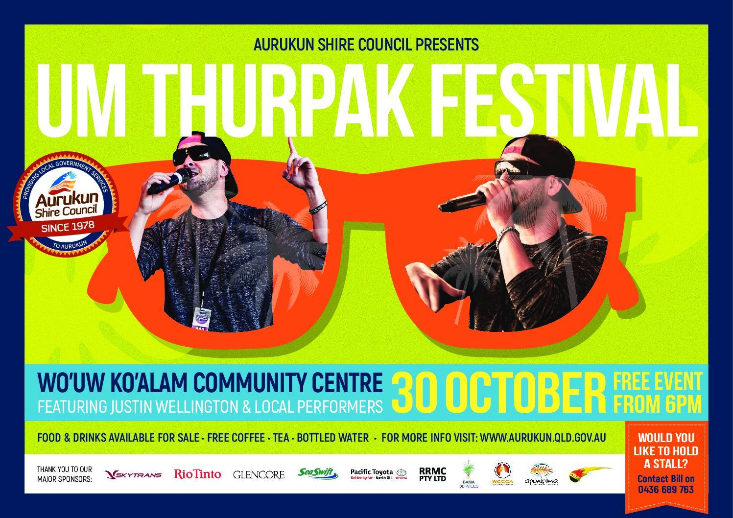 Um Thurpak Concert with Justin Wellington